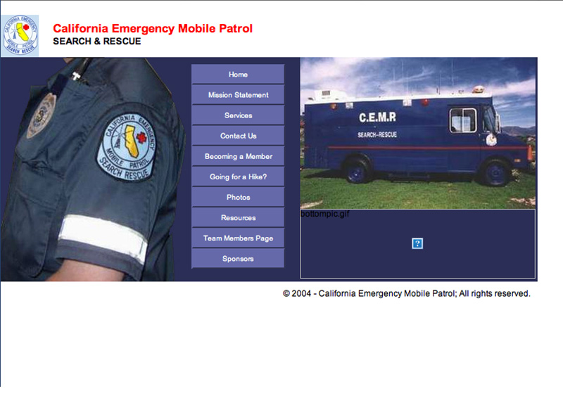 Our Website in 2004